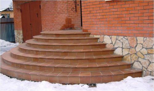 Как сделать полукруглое крыльцо из бетона своими руками фото 28