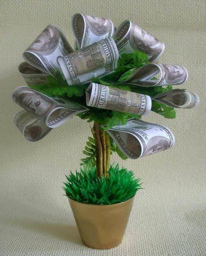 Денежное дерево подарок своими руками на 464