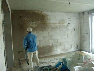 Штукатурка стен своими руками по маякам газобетона