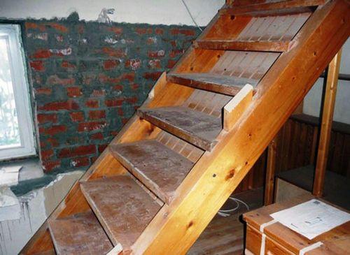 Лестница из подвала своими руками