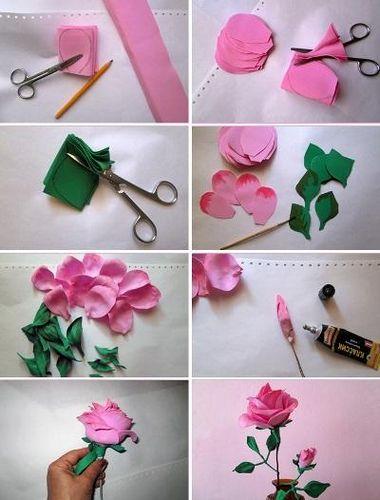 Выкройки цветов из фоамирана своими руками фото 665