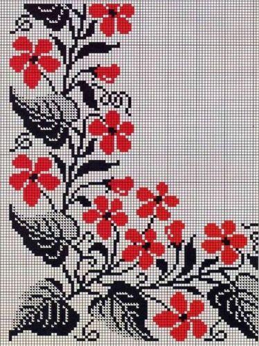 Вышивка крестом маки: схема бесплатно, наборы маковое поле, алые Риолис, скачать красные ромашки на черном 217