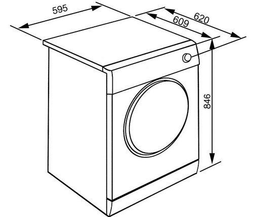 Высота стиральной машины: стандартные размеры автомата, ширина и габариты, глубина горизонтальная загрузка