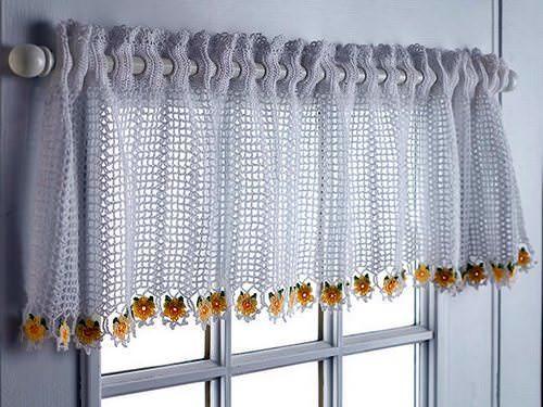 занавески крючком схемы вязания штор подхваты шторы для кухни с