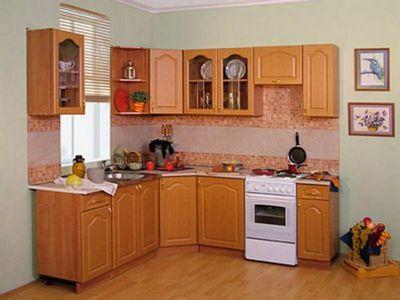 фото кухонная мебель в интерьере